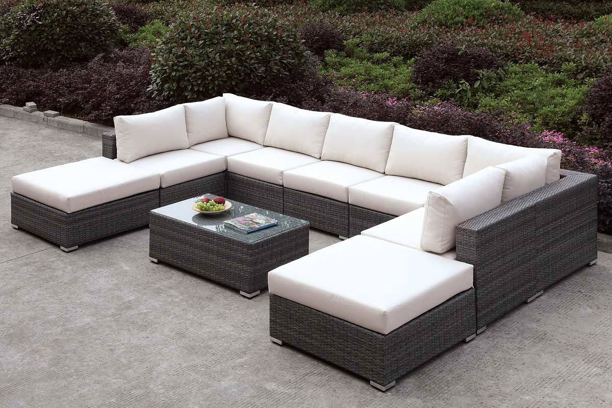 somani outdoor u shaped sectional set configuration 3