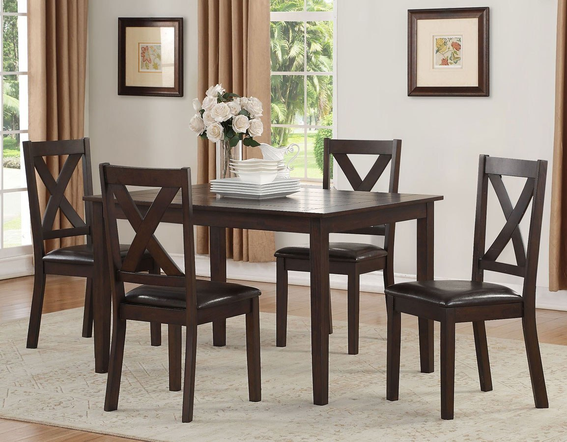 Dark Brown Kitchen Table
