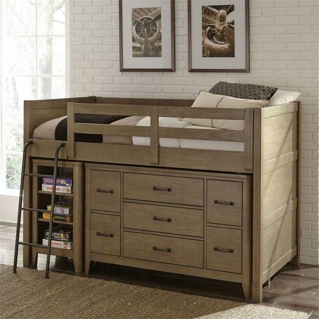 cottonwood creek loft bed w dresser and bookcase