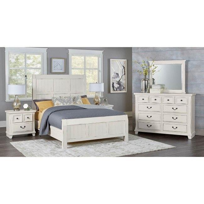 timber creek bedroom set distressed white