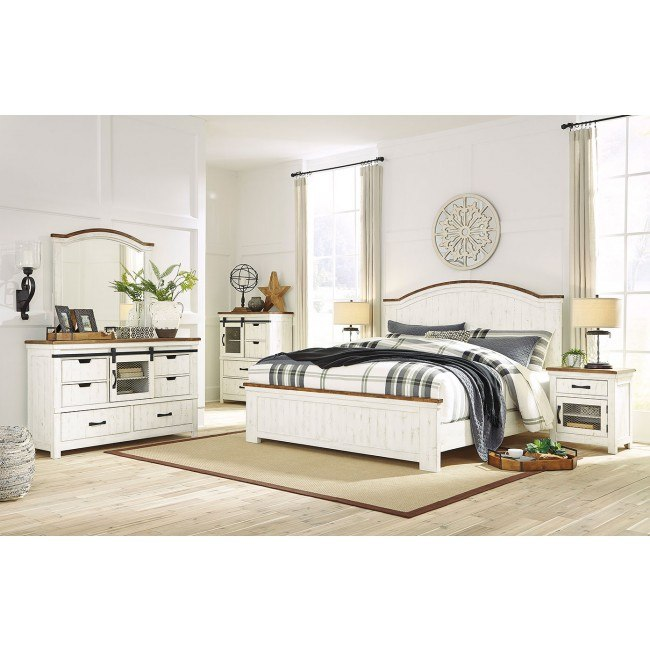 wystfield panel bedroom set