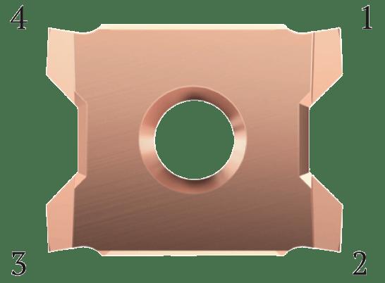 FourCut gängsvarvskär har 4 skäreggar.