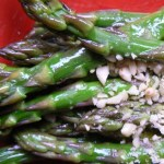 Organic Asparagus Spears With Pine Nuts
