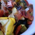 Simple Baked Organic Vegetarian Dinner