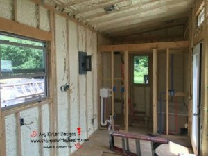 Tiny house insulated!