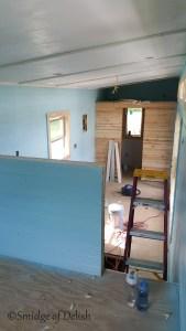 Tiny house paint job