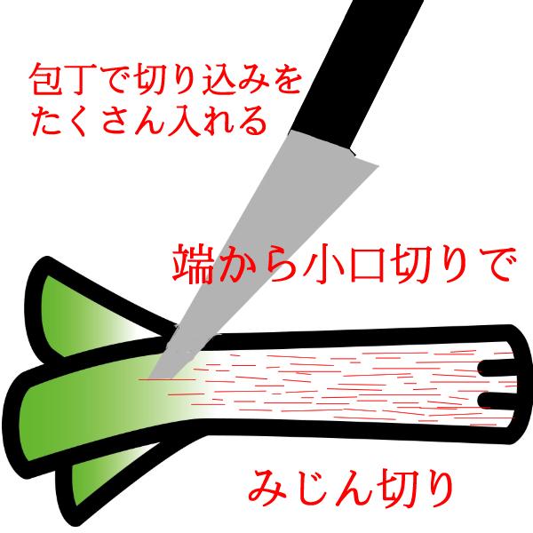 白ネギの切り方