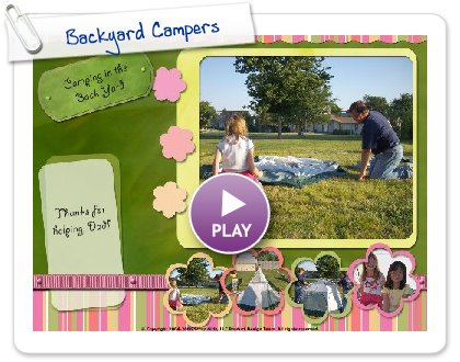 Click to play this Smilebox postcard: Backyard Campers