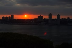 sunset over the Hudson River