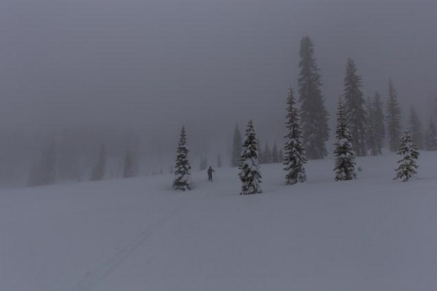 getting found in xc ski meditation