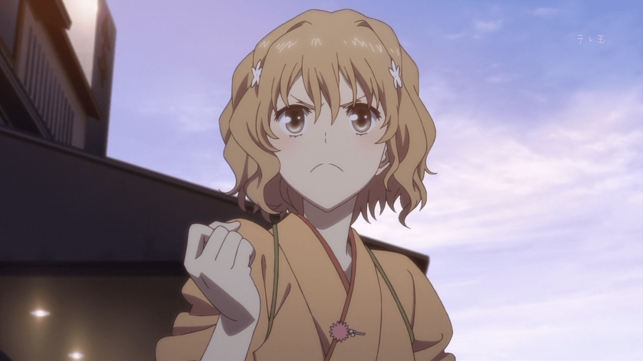 Image result for hanasaku iroha screenshots ohana working