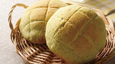 グリーンティメロンパン
