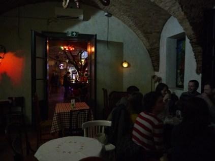 The bar's inside