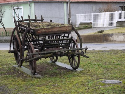 Old, traditional wooden wagon