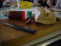 Salami and bacon