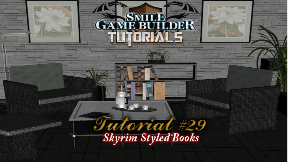 Smile Game Builder Tutorial #29: Skyrim Styled Book-Reading
