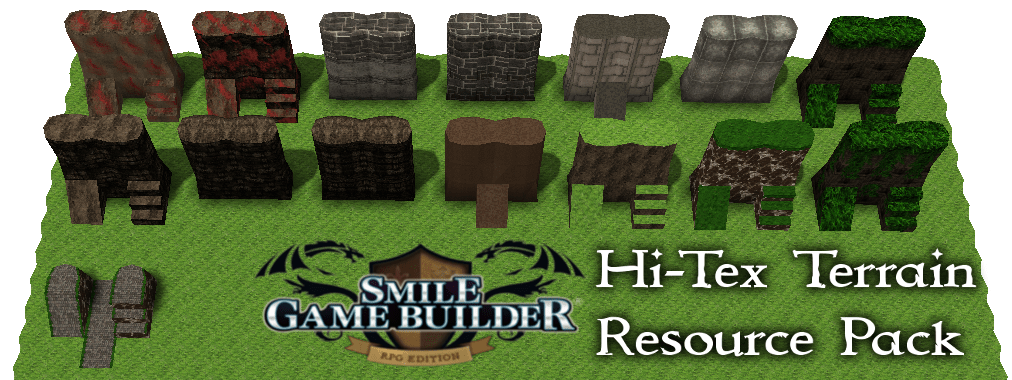 Hi-Tex Terrain Resource Pack 1 - Smile Game Builder - Upcoming 2017