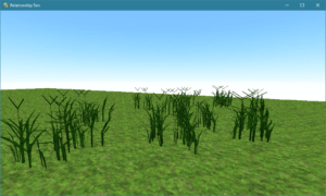 Smile Game Builder Grass Procedural Experiment in Blender