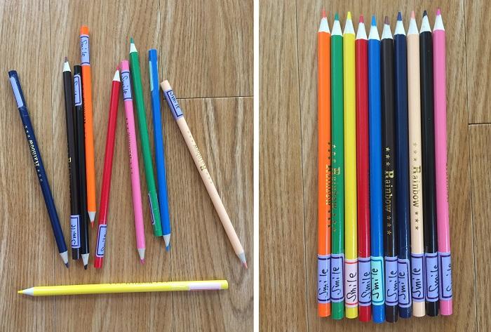 整頓 5頓 定方向 色鉛筆
