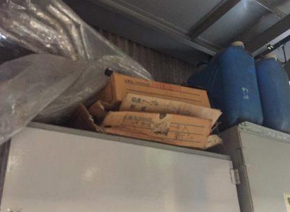 工場オフィスの5S地震対策天板
