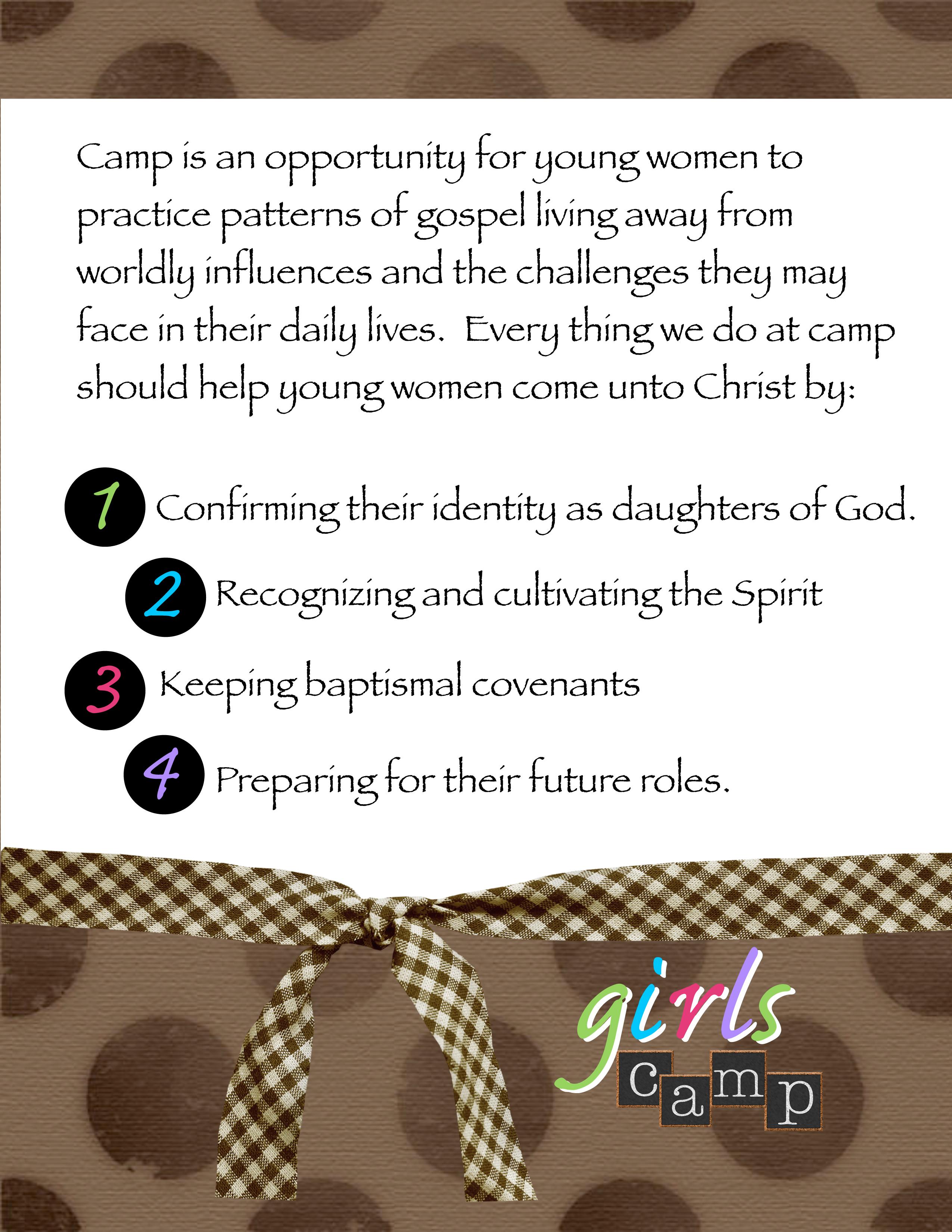 Young Women Girls Camp