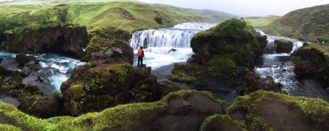 Trail on the top of Skogafoss