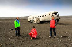 US Navy's DC3 plane wreck site on the Sólheimasandur black sand beach