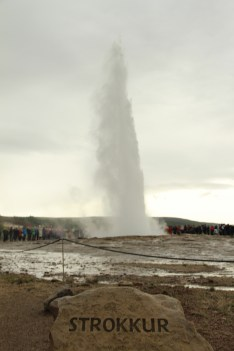 Strokkur- Iceland's most famous and active geyser, which erupts every 6-10 min