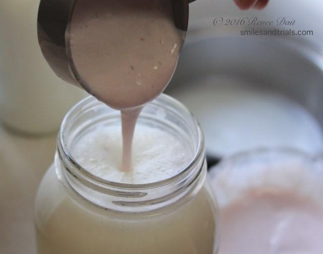 yogurt starter into milk