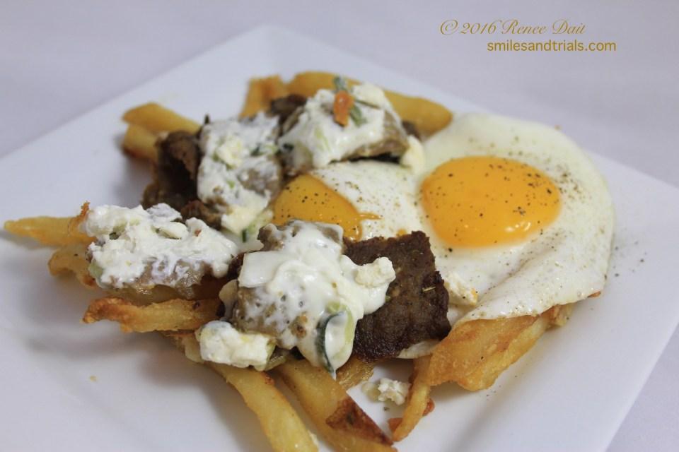 5464 leftover loaded greek fries breakfast