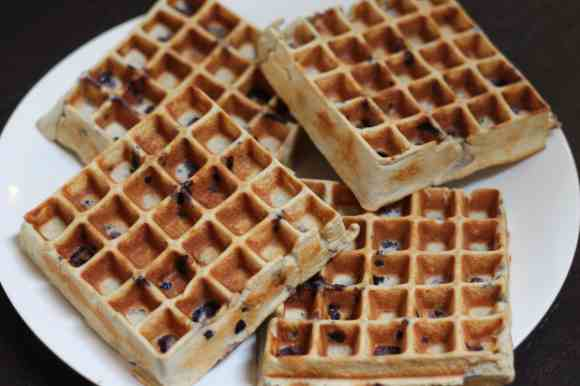 Blueberry Protein Waffles