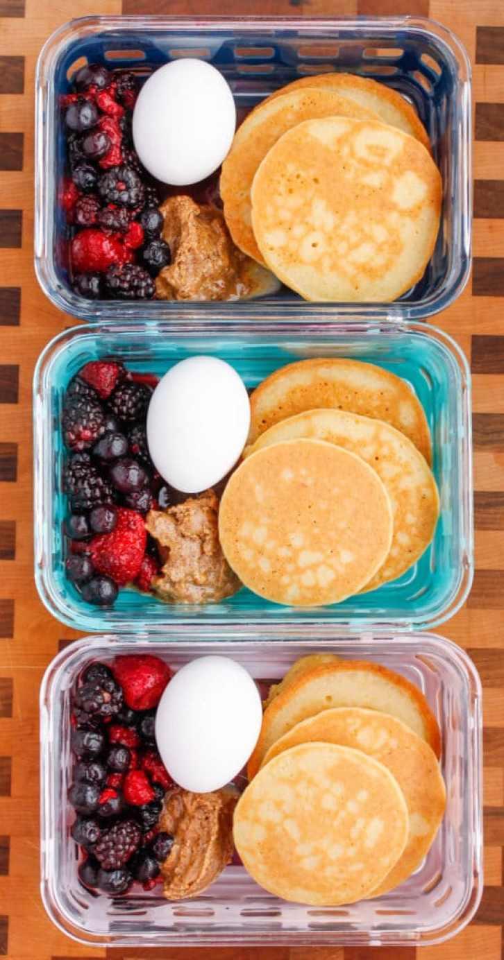 Paleo Pancake Breakfast Meal Prep Bowls