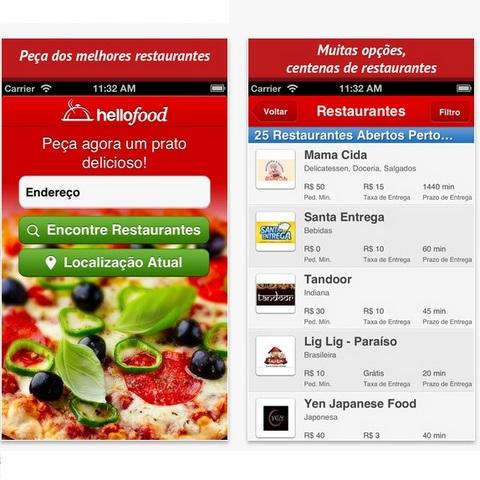Aplicativo hello food para iOs