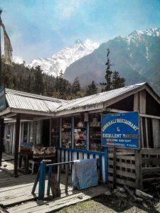 Nepal Restaurant in Pisang 3250 m