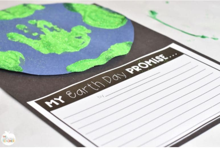 My Earth Day promise art activity for kids.