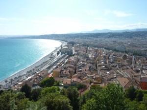 Vue sur Nice depuis la colline du Château