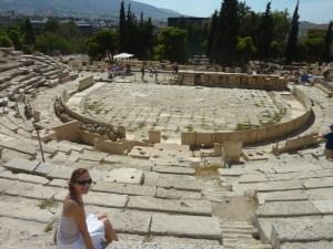 Notez l'effort vestimentaire pour la visite de l'Acropole... ;-)
