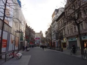 Les rues piétonnes du centre-ville