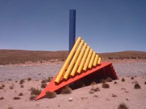 Sculpture moderne au point de vue de Las Cuevas