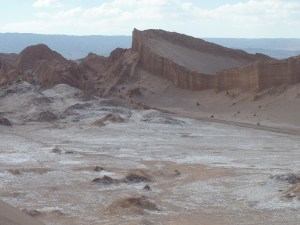 """Vallée de la lune et au fond """"l'amphithéâtre"""""""
