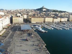 La vieux port vu d'en haut