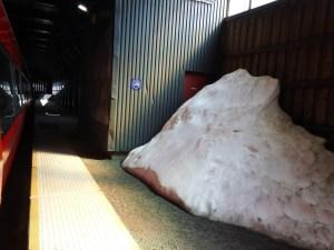La congère de la gare d'Hallinskeld…