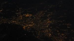 Survol de Turin by night