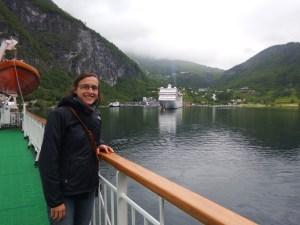 Arrivée à Geiranger, qui marque la fin du Geirangerfjord