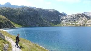 Arrivé au lac Vert, qui porte bien mal son nom ;-)