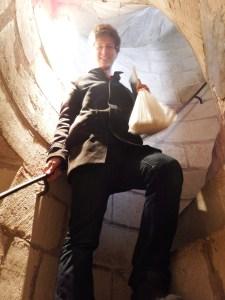 L'escalier est raide dans la tour !