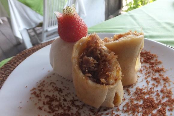 Les crêpes à la noix de coco + glace vanille, une valeur sûre