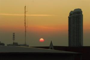 Coucher de soleil sur Bangkok
