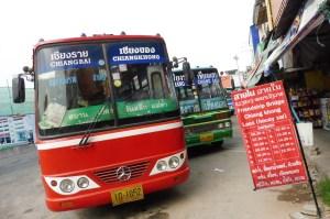 Le bus pour Chiang Khong
