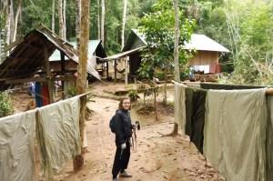 Les cuisines et la laundry juste avant notre cabane
